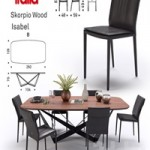 Table Scorpio Wood \ Chair Isabel \ Cattelan Italia