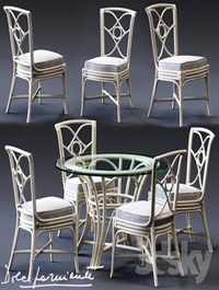 Dolcefarniente ORTENSIA Chair & IRENE Table