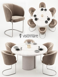 Carmen chairs and Opera table Visionnaire Home Philosophy