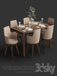 Venjakob Alexia Chair with Dining Table ET388