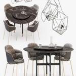 Bontempi Glamor table Mood chair set