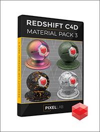 Pixel Lab Redshift C4D Material Pack 3