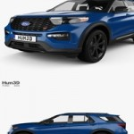 Hum3D Ford Explorer ST 2020 3D model