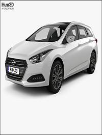 Hyundai i40 wagon 2015 3D model