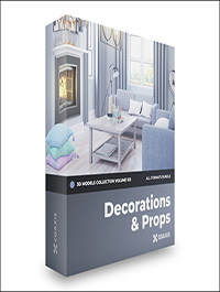 Decorations 3D Models Collection –CGAxis Volume 103