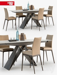 Cattelan Italia Arcadia couture chair Premier table