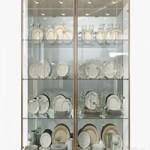 Birgit Israel Pair of american brass display cabinets