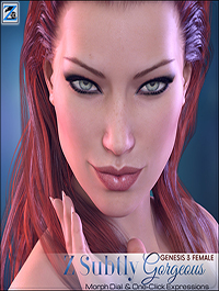 Z Subtly Gorgeous - Morph Dial and One-Click Expressions for G3F-V7 by Zeddicuss