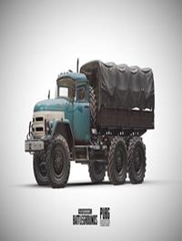 PUBG Truck 3d Model
