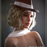 Fedora Bob Hair for Genesis 3 and 8 Female(s)