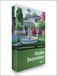 CGAxis Garden Decorations 3D Models Collection – Volume 108