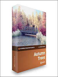 CGAxis Autumn Trees 3D Models Collection – Volume 115