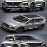 2019 Hyundai Santa Fe 3d Model