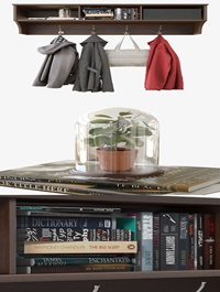 Cgtrader Wall Shelf With Clothes 3D model