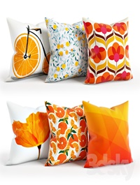 Orange Pillow Set 001