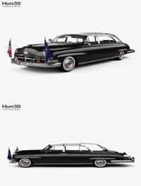 Hum3D Lincoln Cosmopolitan Presidential Limousine 1950 3D model
