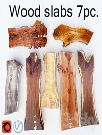 Wood Slab | Wooden slab 7pcs