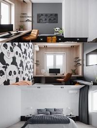 Apartment Interior Scene By KhoiMegalomaniac