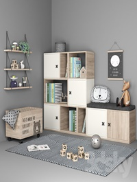 Set of furniture and decor for a children's room 6