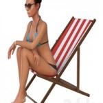 The girl in the beach chair