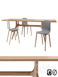 Nil Table and Aava Chair Set