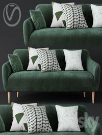 Macy Green Velvet Sofa