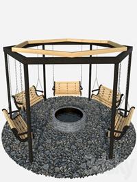 Swing around the well