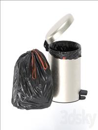 trash bag and bin