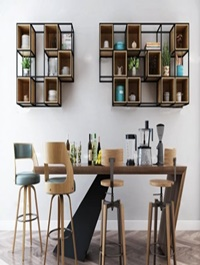 Nordic Bar Chair/Table and Decorative Set Combination