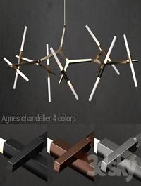 Chandelier Agnes 14 lights 4 colors