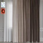 A set of curtains 12 Beige gamma