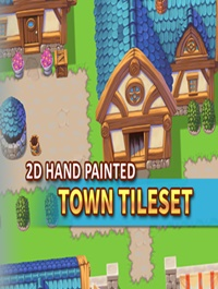 2D Hand Painted Town Tileset
