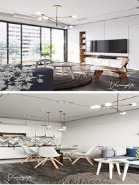 Kitchen Livingroom By Le Vu Vuong