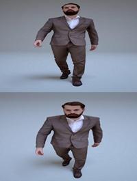 Business Human Walking #2 Low-poly 3D model