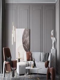 Modern light luxury sofa and coffee table combination 2