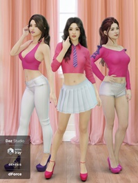 dForce K-Pop Girls 2 Outfits for Genesis 8 Female(s)
