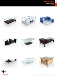 10ravens 3D Models collection 004 Modern tables 01