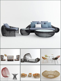 3D Models Outdoor Furniture Collection
