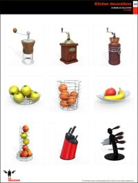 10ravens 3D Models collection 013 Kitchen decorations 01