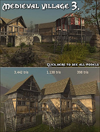 DEXSOFT-GAMES Medieval Village 3 model pack