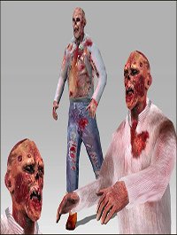 Arteria 3D Modern Day Base Male + Zombie Pack [Animated Character]