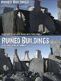 DEXSOFT-GAMES Ruined Buildings model pack by Swen Johanson