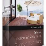CGAxis Models Volume 51 3D Garden Furniture