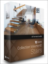 CGAxis Models Volume 42 Stairs + Render Scene