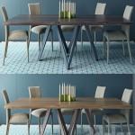 Calligaris table CARTESIO Table ANAIS Chair