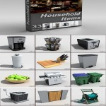 DigitalXModels 3D Model Collection Volume 16: HOUSEHOLD ITEMS