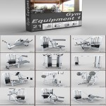 DigitalXModels – 3D Model Collection – Volume 19: GYM EQUIPMENT 1