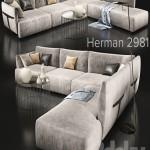 Sofa natuzzi herman 2981