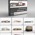 DigitalXModels 3D Model Collection Volume 37: CORNER SHOPS 2