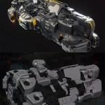 Heavy Assault Corvette 3D Model